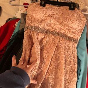 DAVIDS BRIDAL SHORT BRIDESMAID DRESS